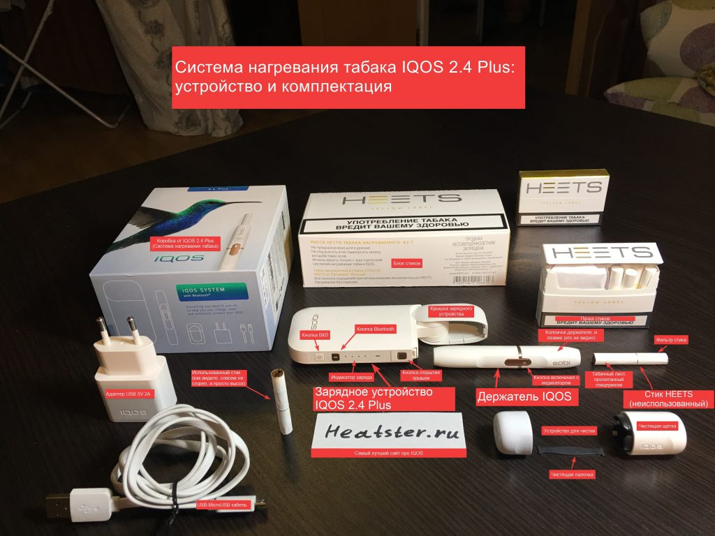 Комплект стартового сета IQOS 2.4 Plus одним фото
